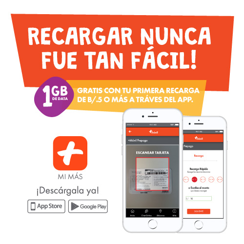 1GB de Data ¡GRATIS!